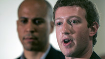 Mark Zuckerberg, Cory Booker