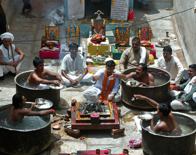 'Parjanya Yagna' is an ancient fire ceremony, for a bountiful monsoon.