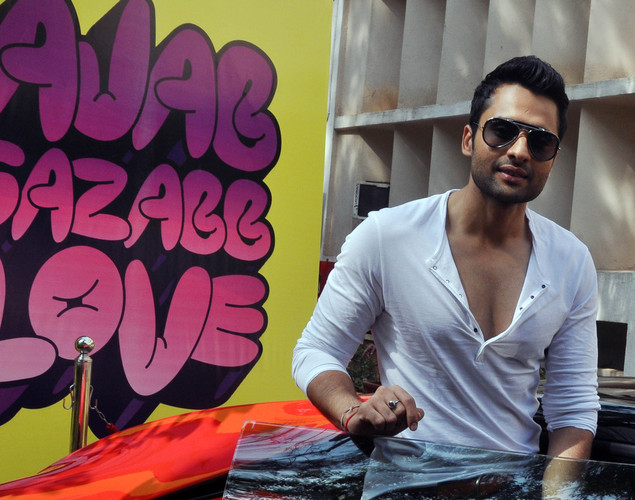 Jackky Bhagnani during a promotional event for the Hindi film 'Ajab Gazabb Love' in Mumbai.