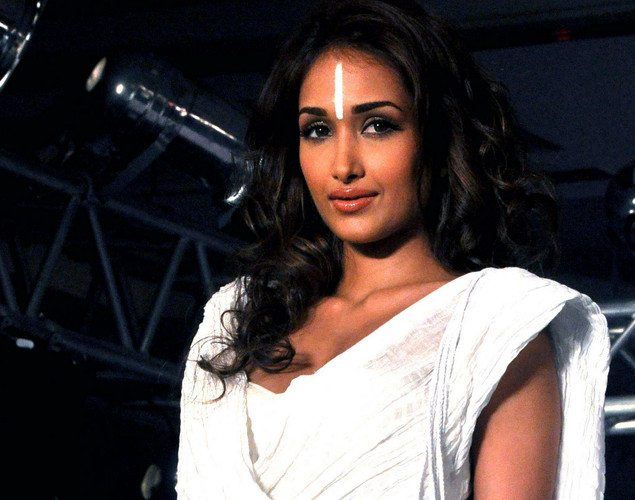 Jiah Khan displays a creation as she takes part in a Cotton Council International Celebrates Cottonscape fashion show in Mumbai.