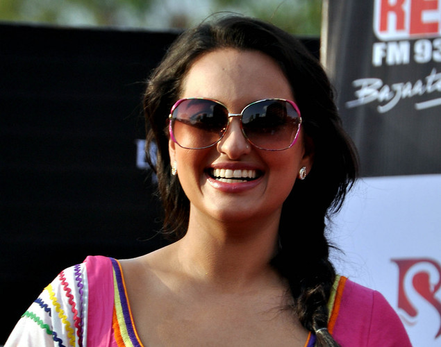 Sonakshi Sinha poses for a photo during a promotion for the  upcoming Hindi film Rowdy Rathore in Mumbai