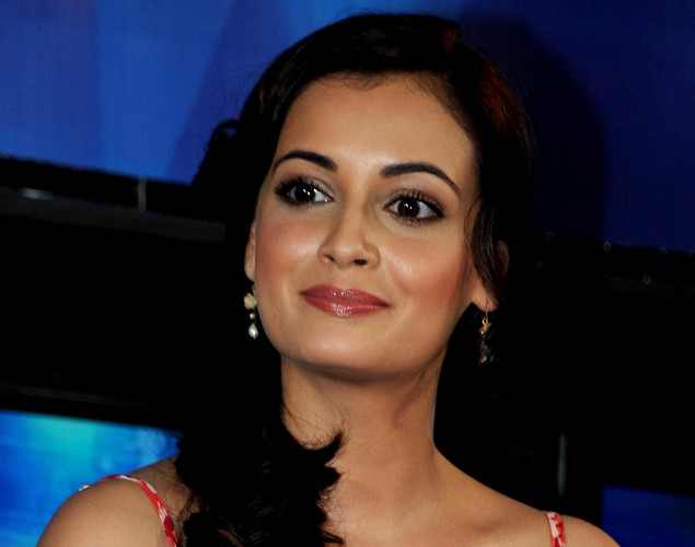 Bollywood film actress Dia Mirza poses during the launch of the 'Marks For Sports' campaign created by the Fit India Movement in Mumbai.