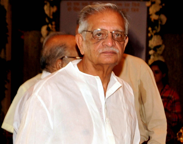 Indian director Gulzar attends a prayer function in memory of late actor Rajesh Khanna in Mumbai.