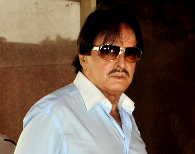 Indian Bollywood actor Sanjay Khan attends a prayer function in memory of late actor Rajesh Khanna in Mumbai.