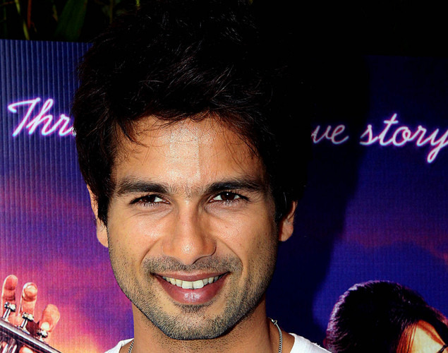 Bollywood film actor Shahid Kapoor poses for a photograph during the promotion of the upcoming Hindi film 'Teri Meri Kahaani' in Mumbai.