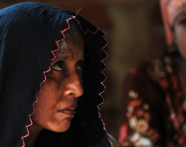 A Rohingya Muslim woman, who fled Myanmar to Bangladesh to escape religious violence, is pictured in Taknaf.