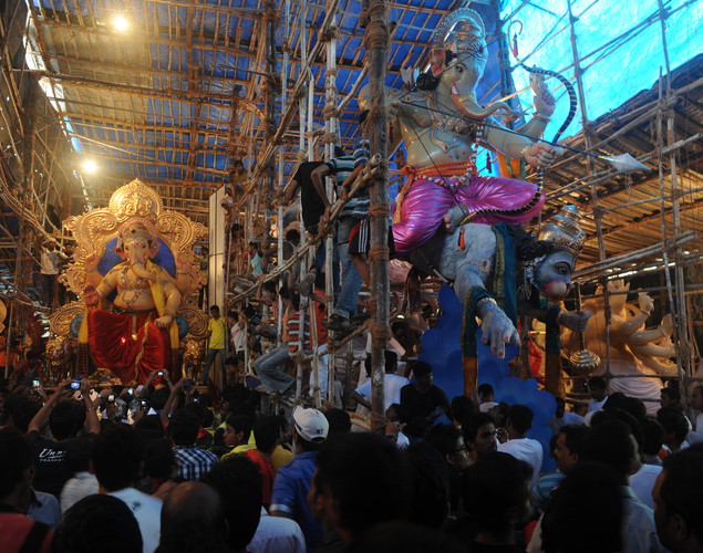 The idols have been prepared for the Ganesh festival, 'Ganesh Chaturthi', a popular 12-day religious festival which is annually celebrated across India, this year running September 19-30.