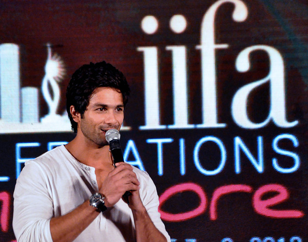 Shahid Kapoor attends the press conference for the announcement of the 'IIFA Awards 2012' ceremony in Mumbai.