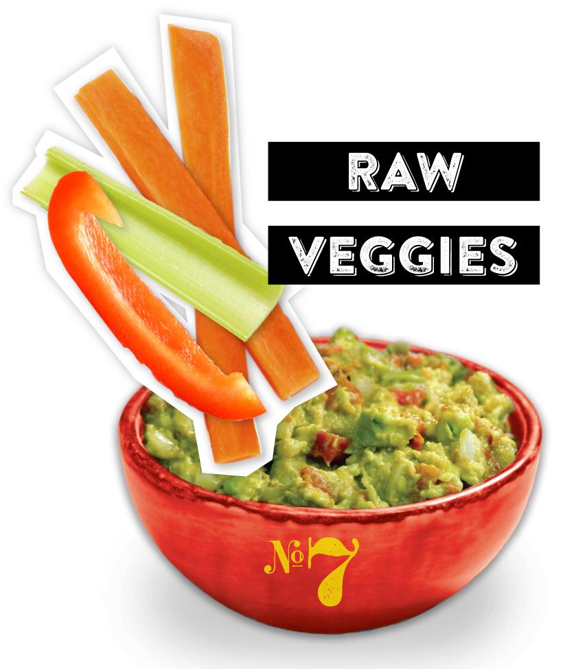 Raw Veggies Guacamole Dipper