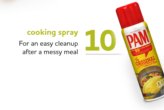 Cooking Spray Makes Cleanup Easy