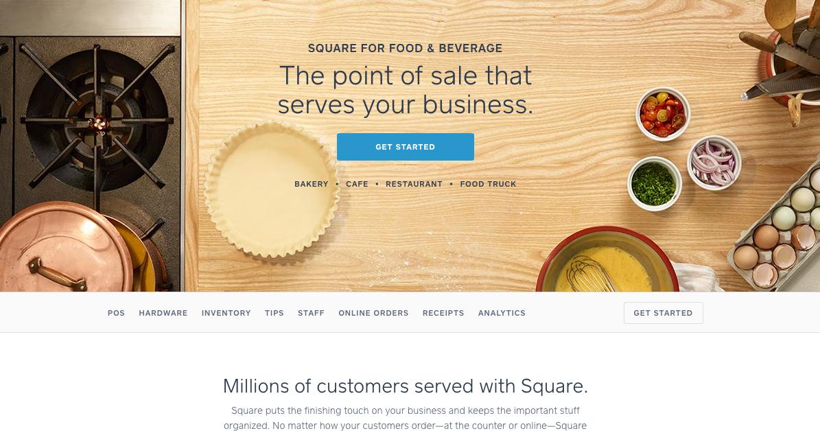 Squareup B2B Website Design