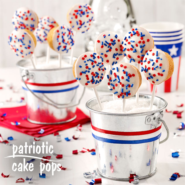 Patriotic Cake Pops Recipe