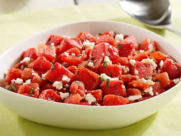 Tomato and Feta Salad Recipe with Watermelon