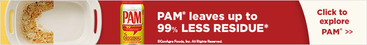 PAM leaves up to 99 percent less residue