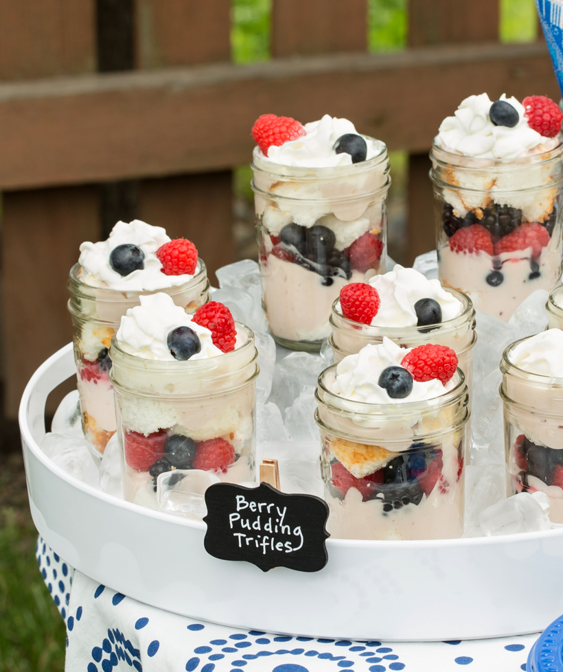 Berry Pudding Trifles