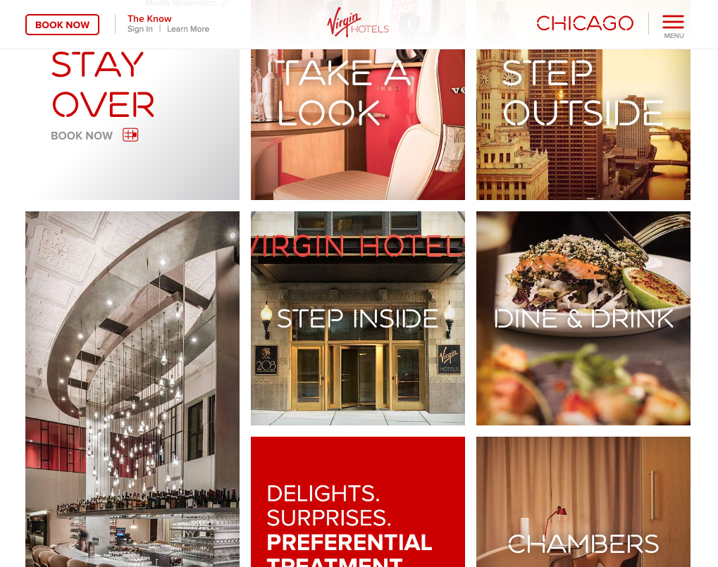 virgin hotels content marketing