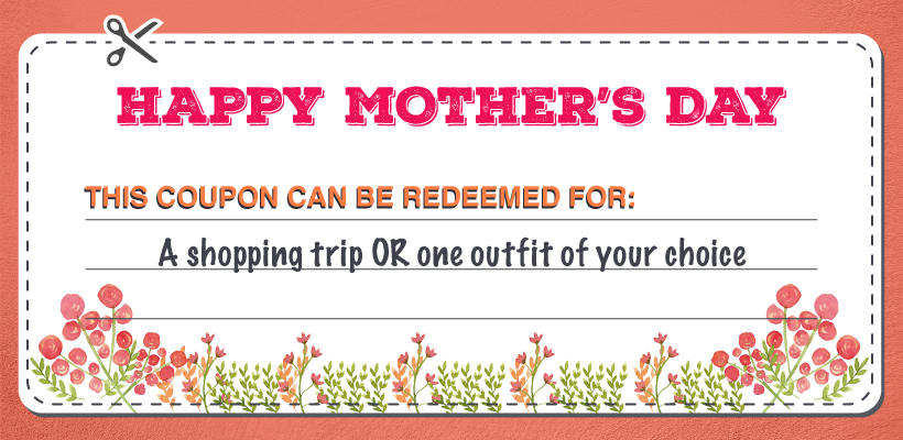Shopping Trip Mother's Day coupon