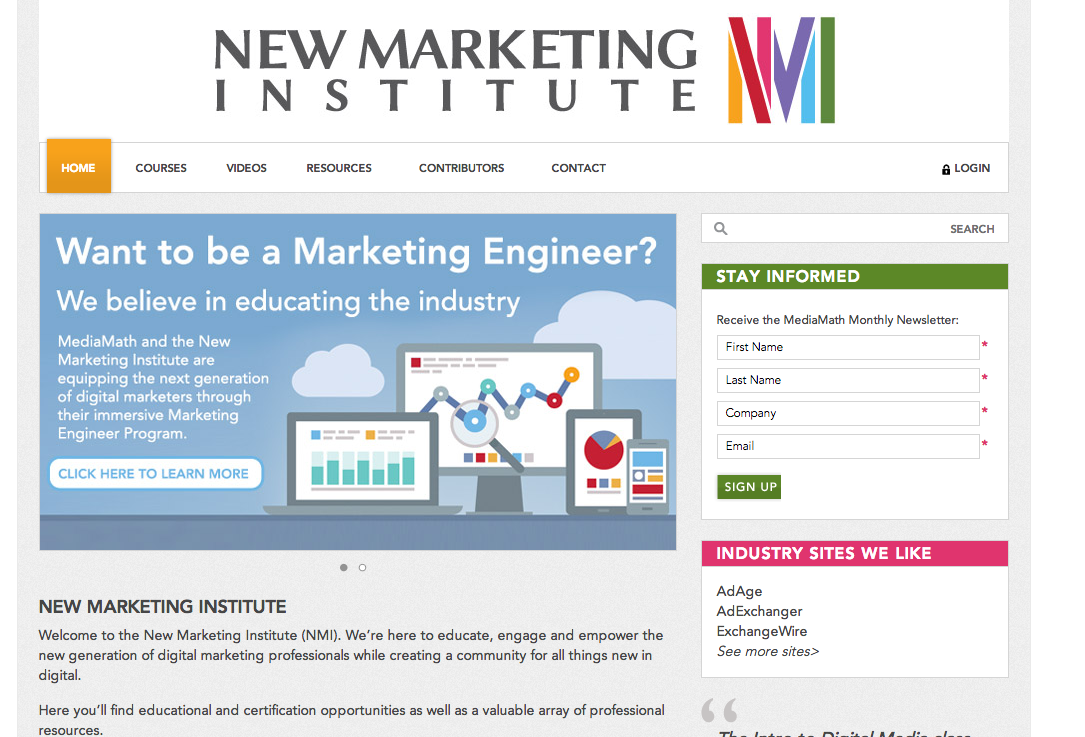 MediaMath New Marketing Institute