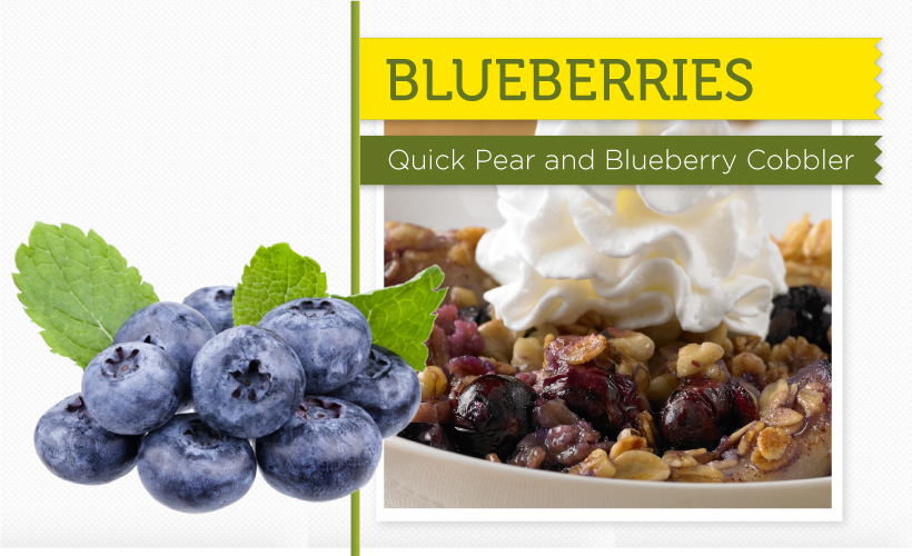 Quick Pear and Blueberry Cobbler Blueberries Recipe