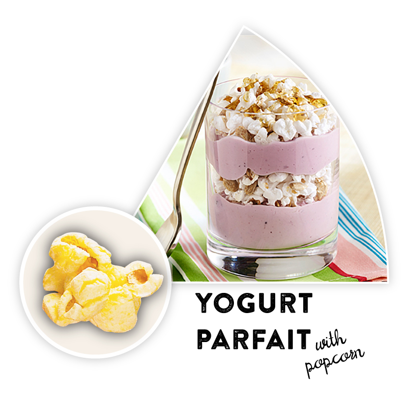 Yogurt Parfait with Popcorn