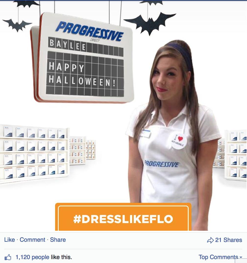 Progressive Halloween #DressLikeFlo