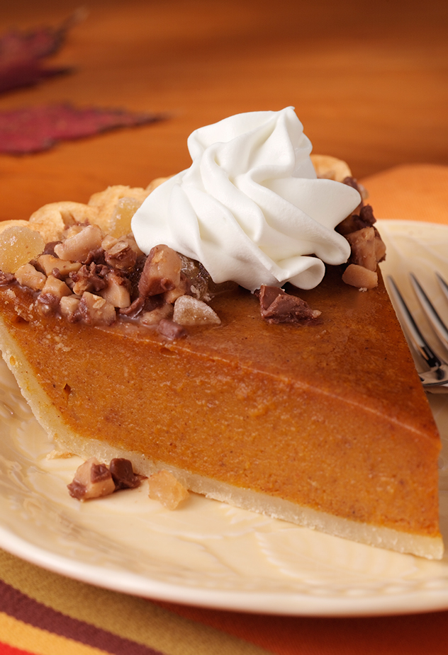 Toffee-Ginger Pumpkin Pie Dessert Recipe