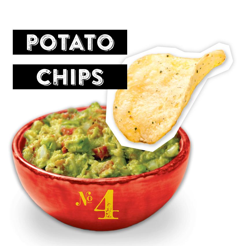 Potato Chips Guacamole Dipper