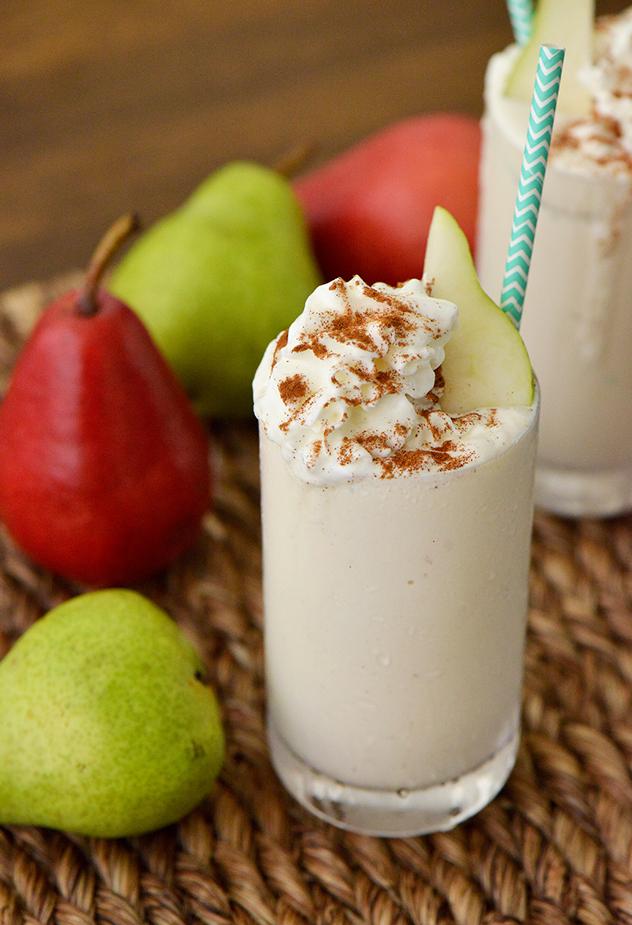 Boozy Pear Cider Shake