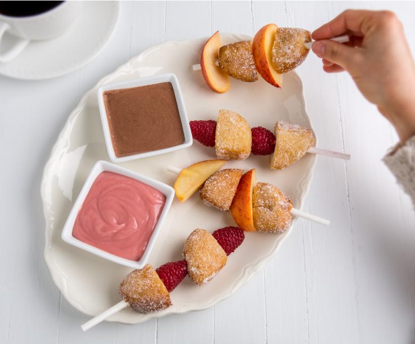 Sugared Donut Fruit Kabobs