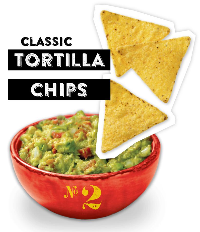 Classic Tortilla Chips Guacamole Dipper