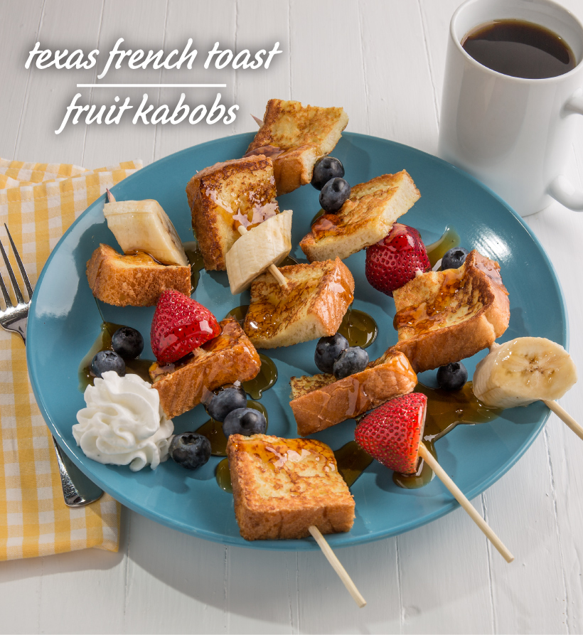Texas French Toast Fruit Kabobs