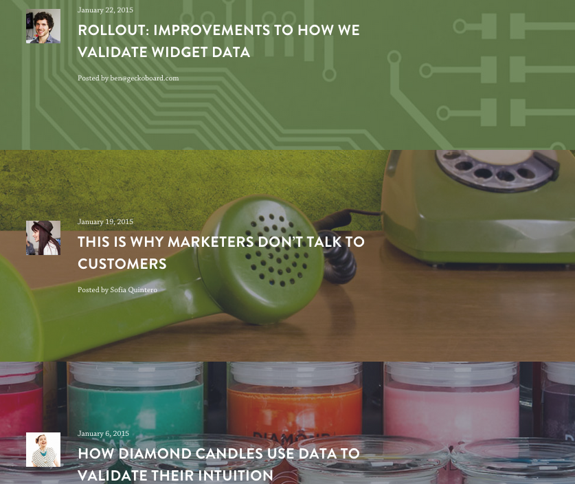 Geckoboard B2B Website Design