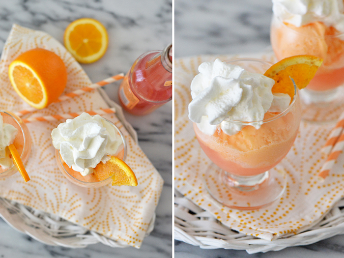 Blood Orange Soda Float