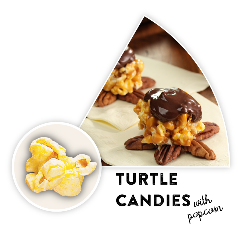 Turtle Candies with Popcorn