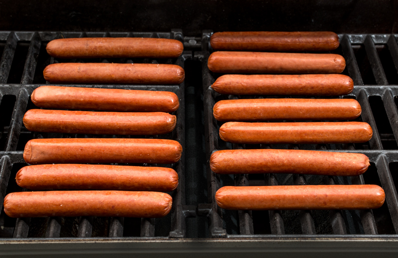 Hot Dogs Grilling