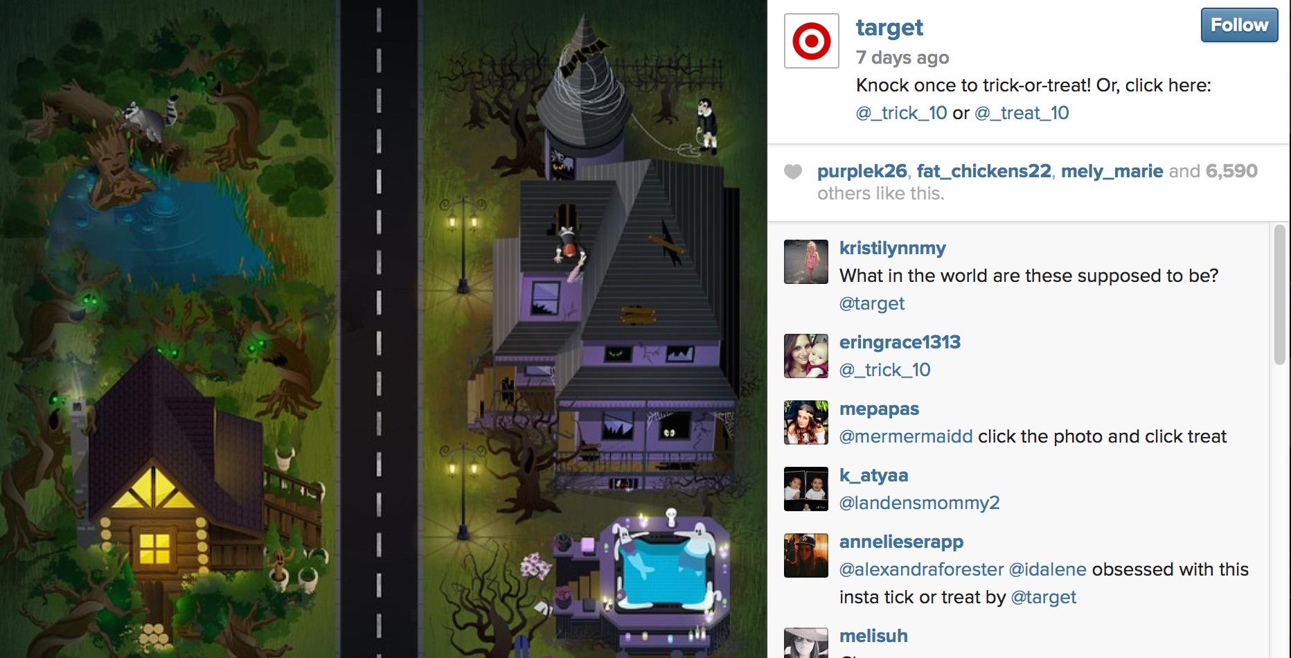 Target Halloween Instagram