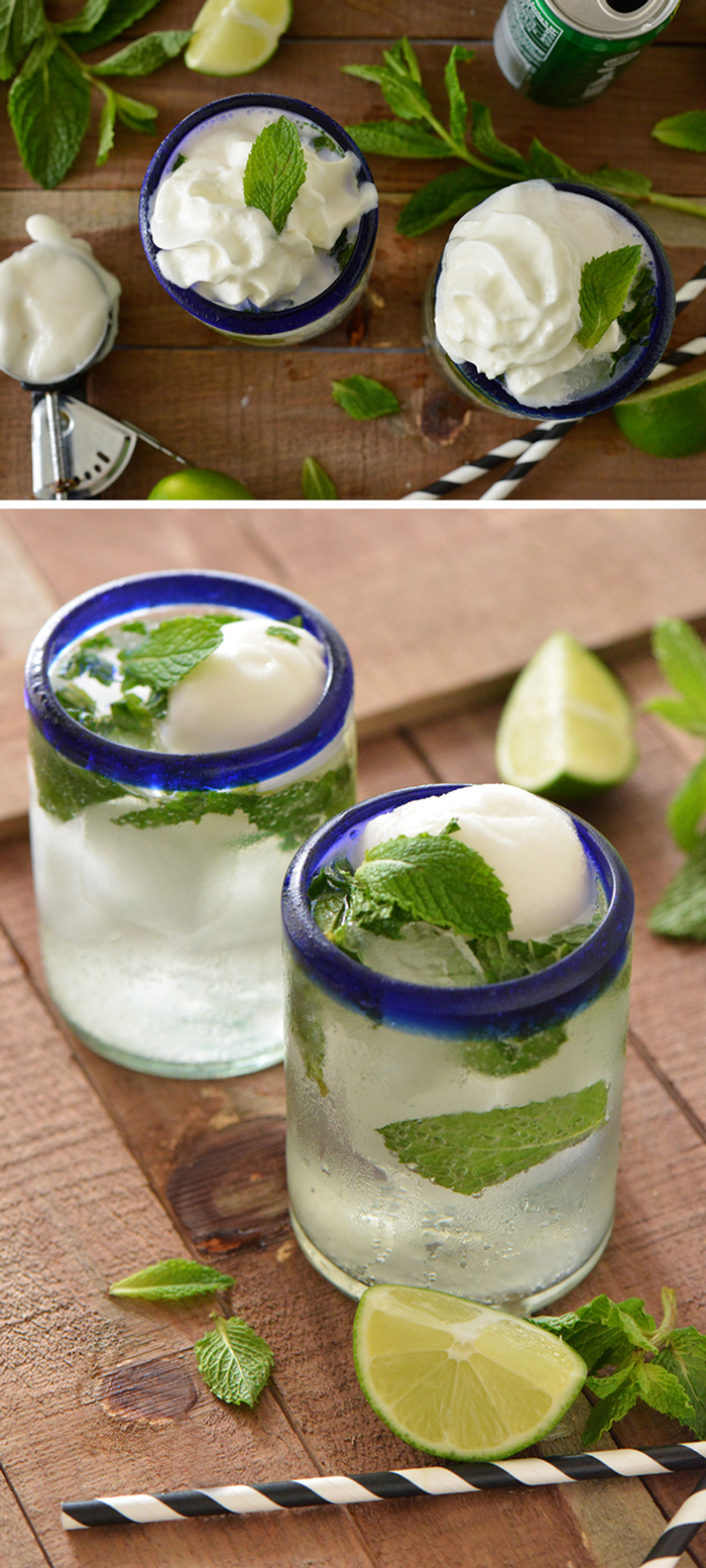 Mojito Ice Cream Float