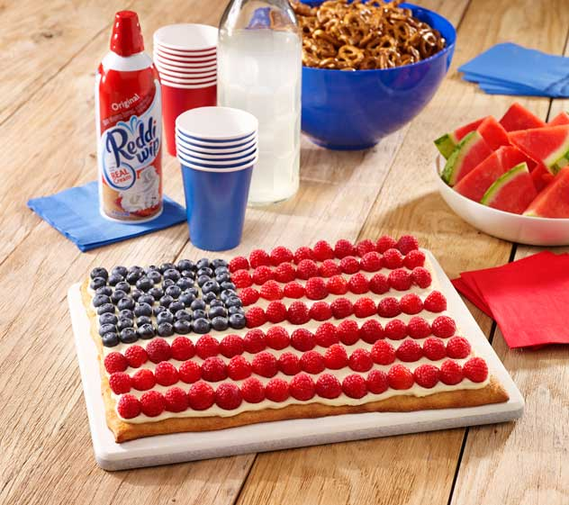 American Flag Dessert Fruit Pizza