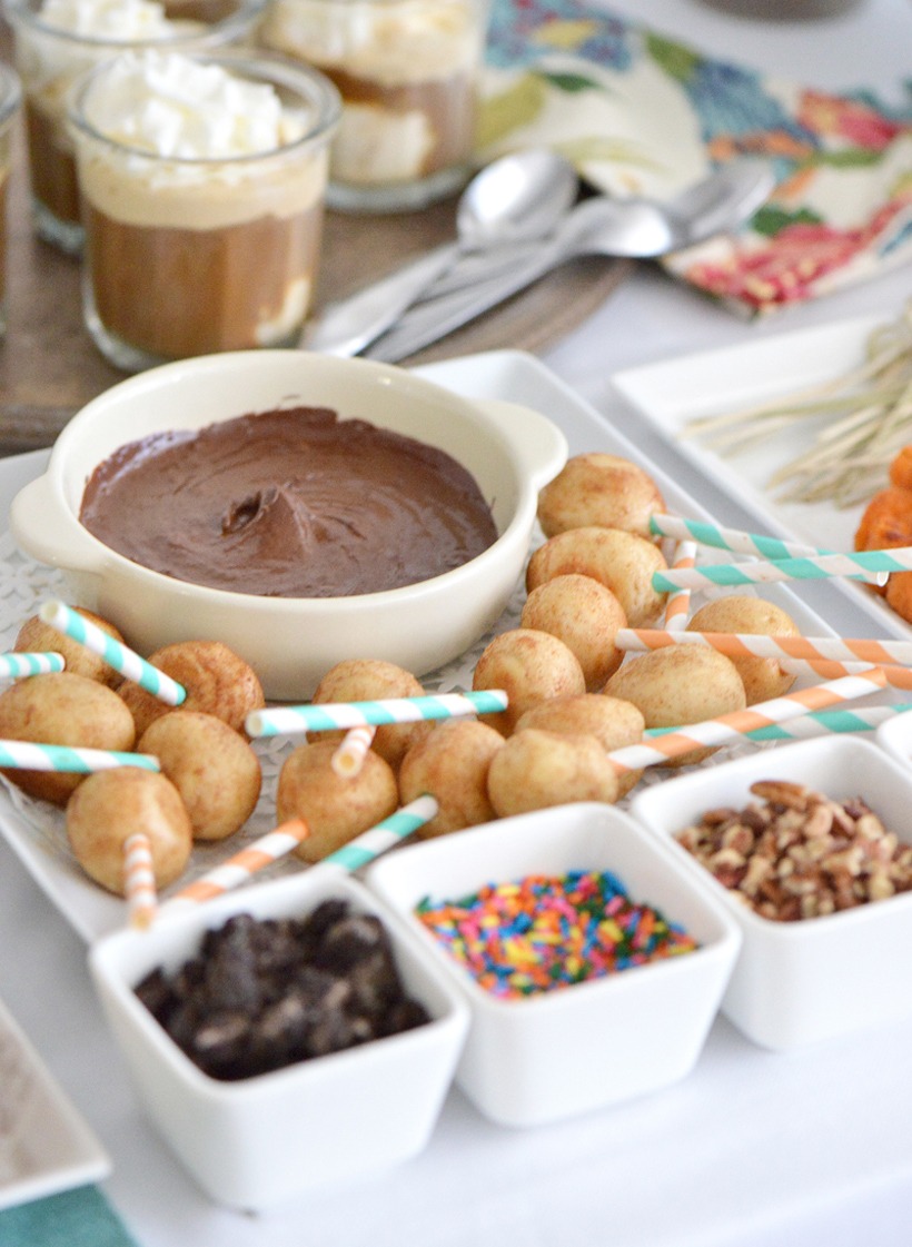 Donut Fondue with Chocolate Dip