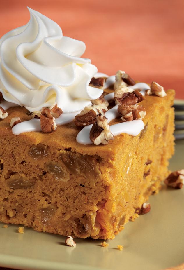 Iced Pumpkin Spice Cake Dessert Recipe