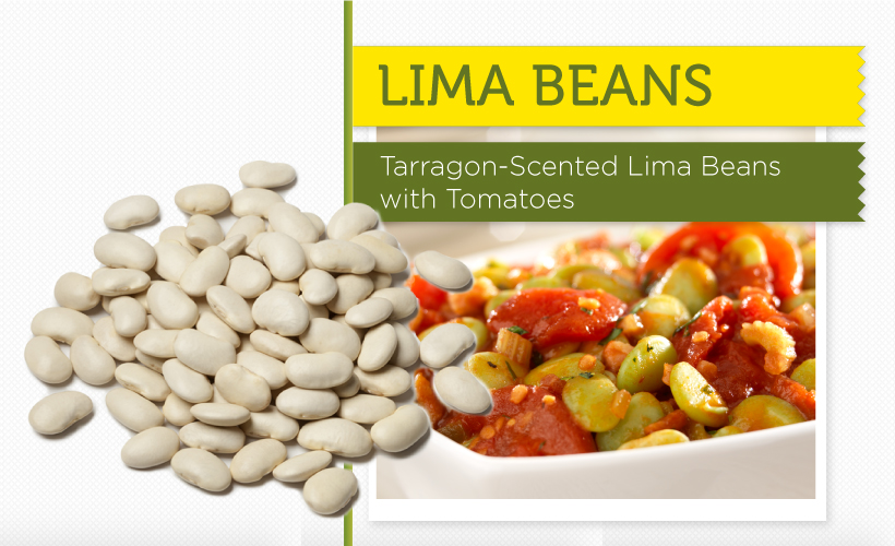 Tarragon Scented Lima Beans with Tomatoes