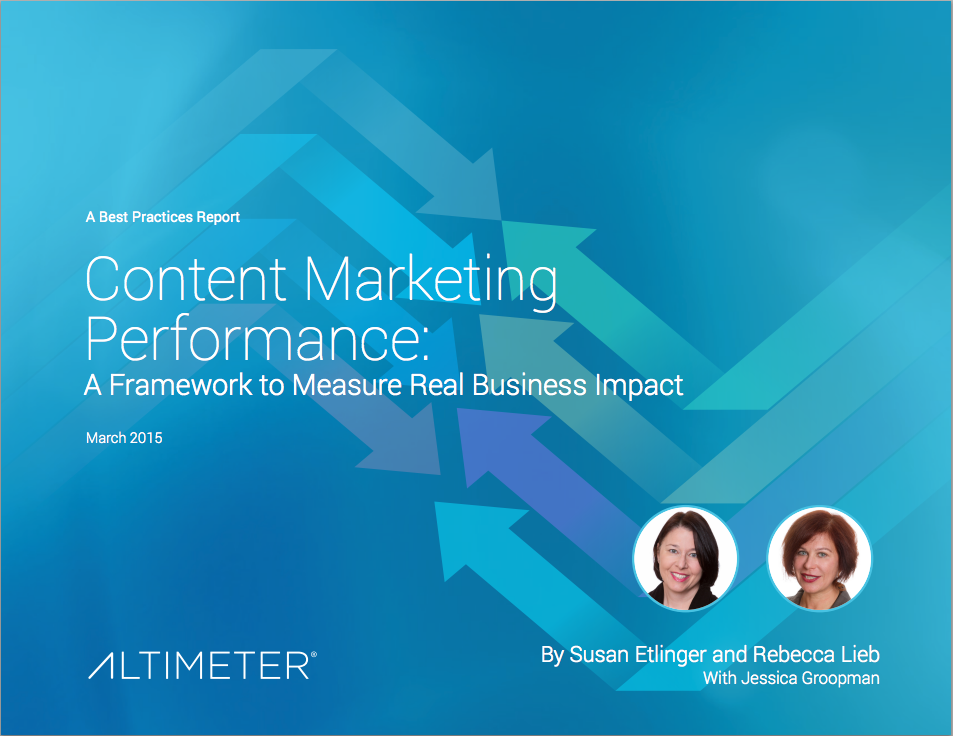 Altimeter Content Marketing Report