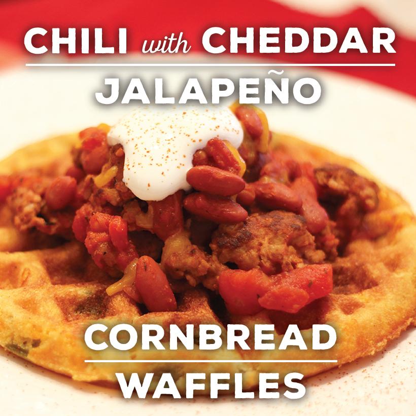 Chili Cornbread Waffles