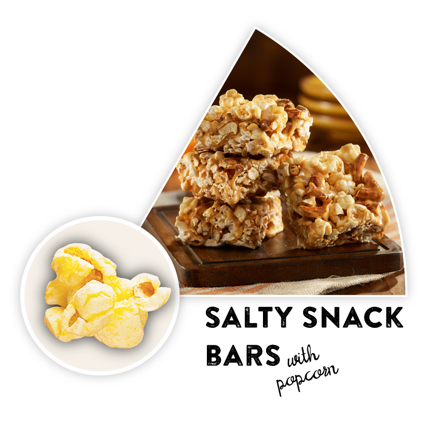 Salty Snack Bars with Popcorn