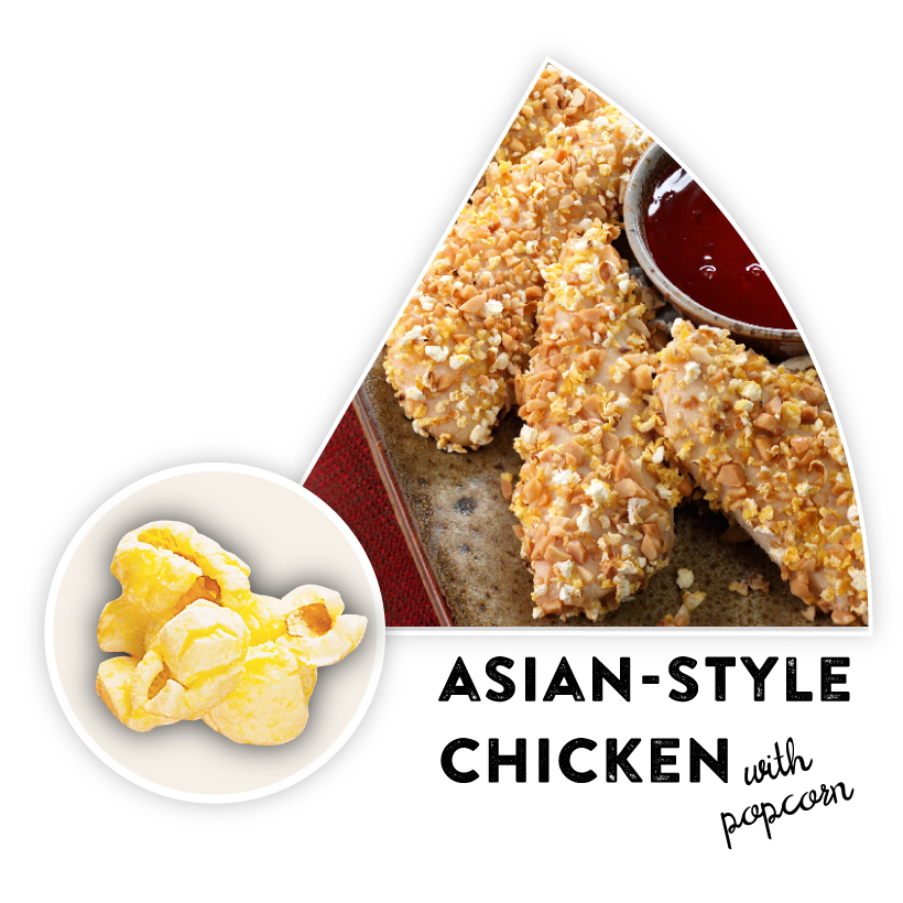 Asian-Style Chicken with Popcorn