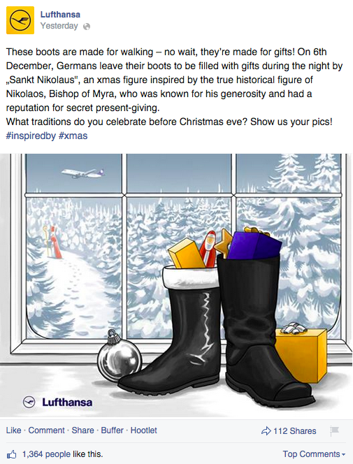 Lufthansa christmas eve facebook campaign