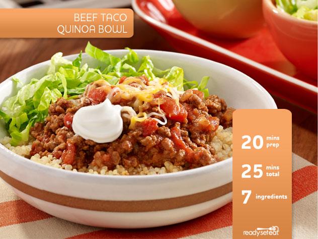 Beef Taco Quinoa Bowl