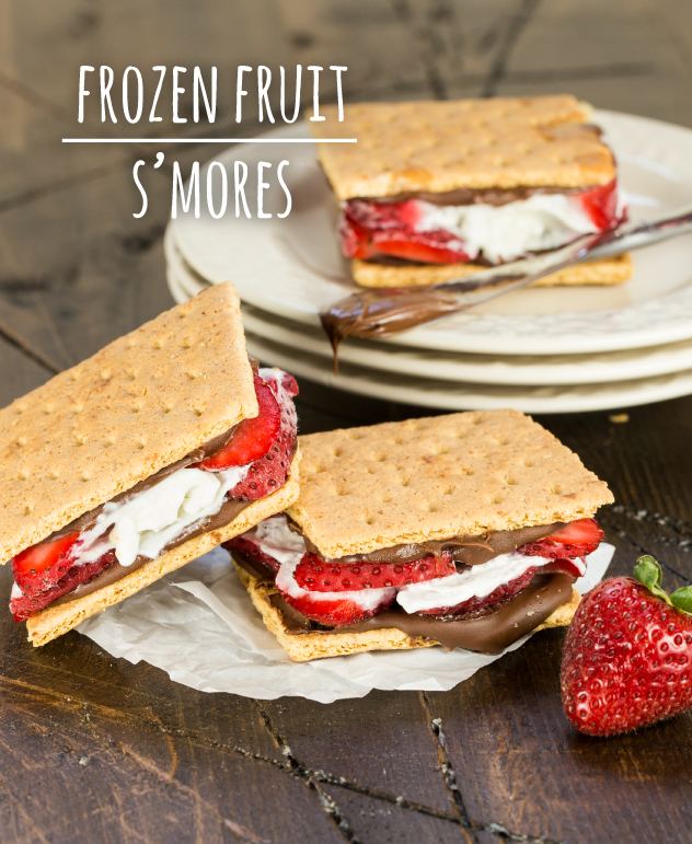 Frozen Fruit S'more Snacks