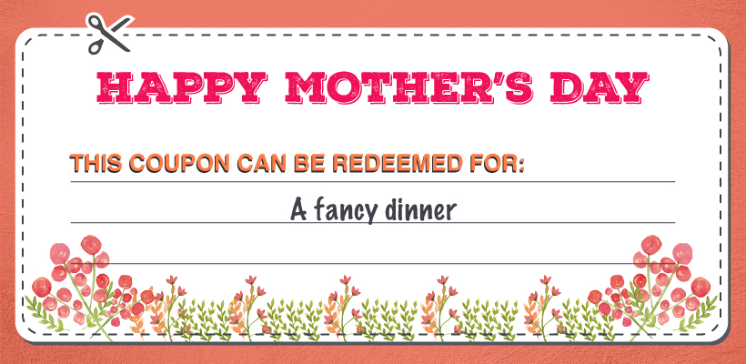 Fancy Dinner Mother's Day coupon