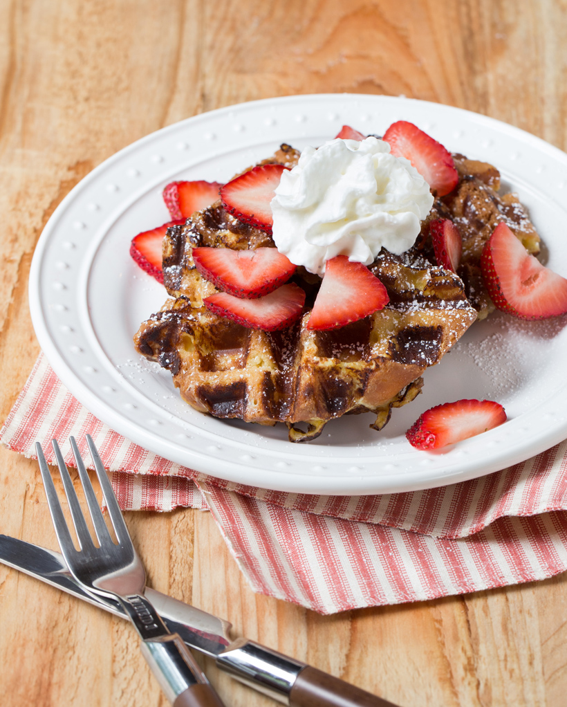 Waffled Donut French Toast